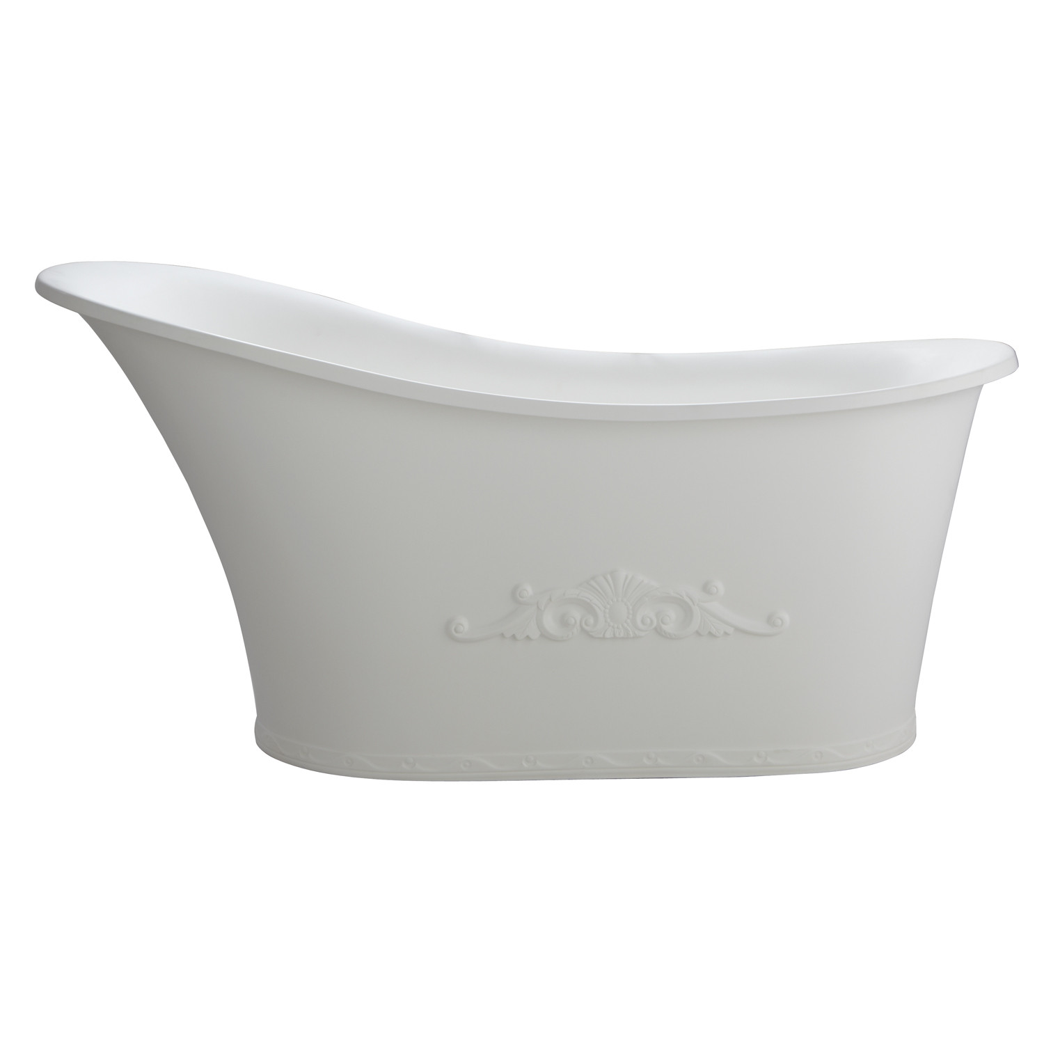 Barclay RTSN59-WH Ayanna Resin Slipper Free Standing Tub In Matte White