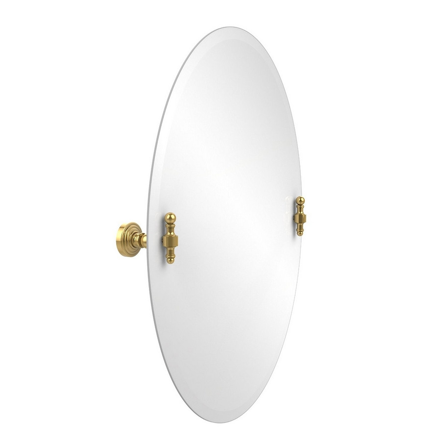Allied Brass RW-91-PB Oval Tilt Mirror with Beveled Edge in Polished Brass