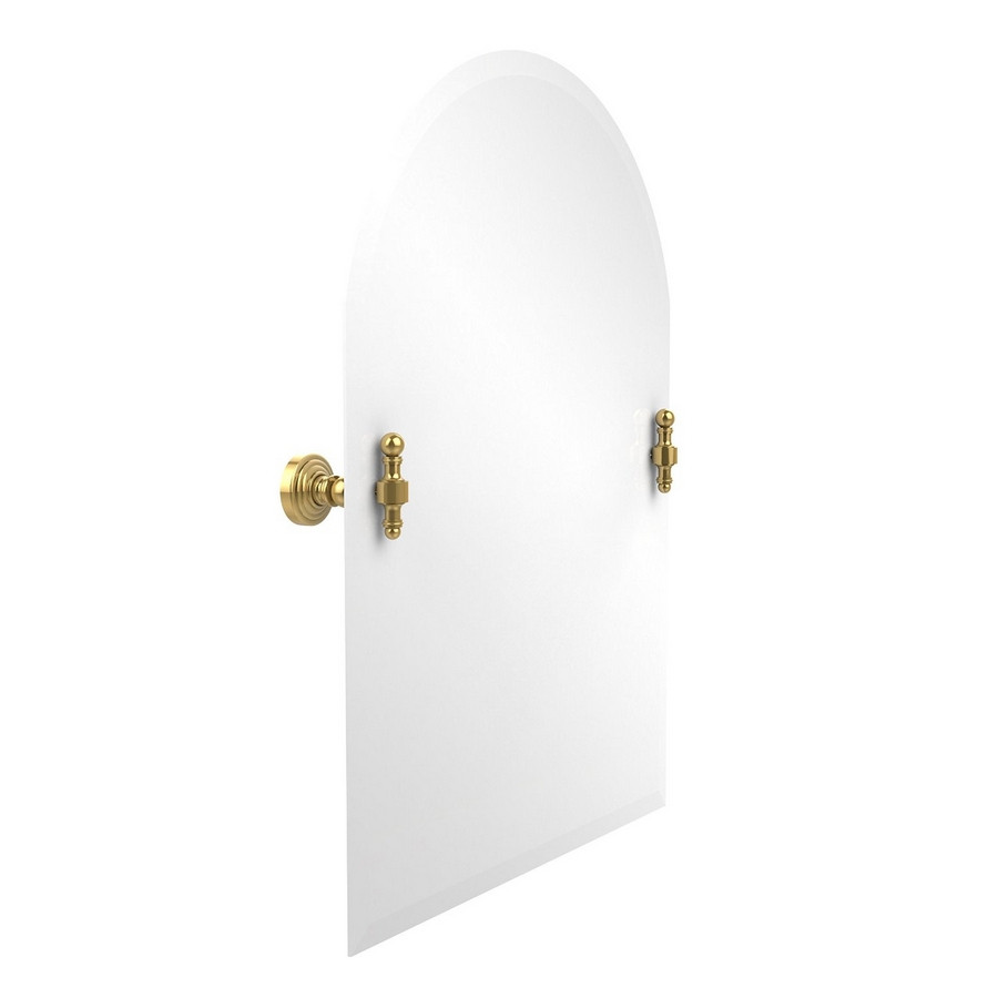 Allied Brass RW-94-PB Arched Top Mirror with Beveled Edge in Polished Brass