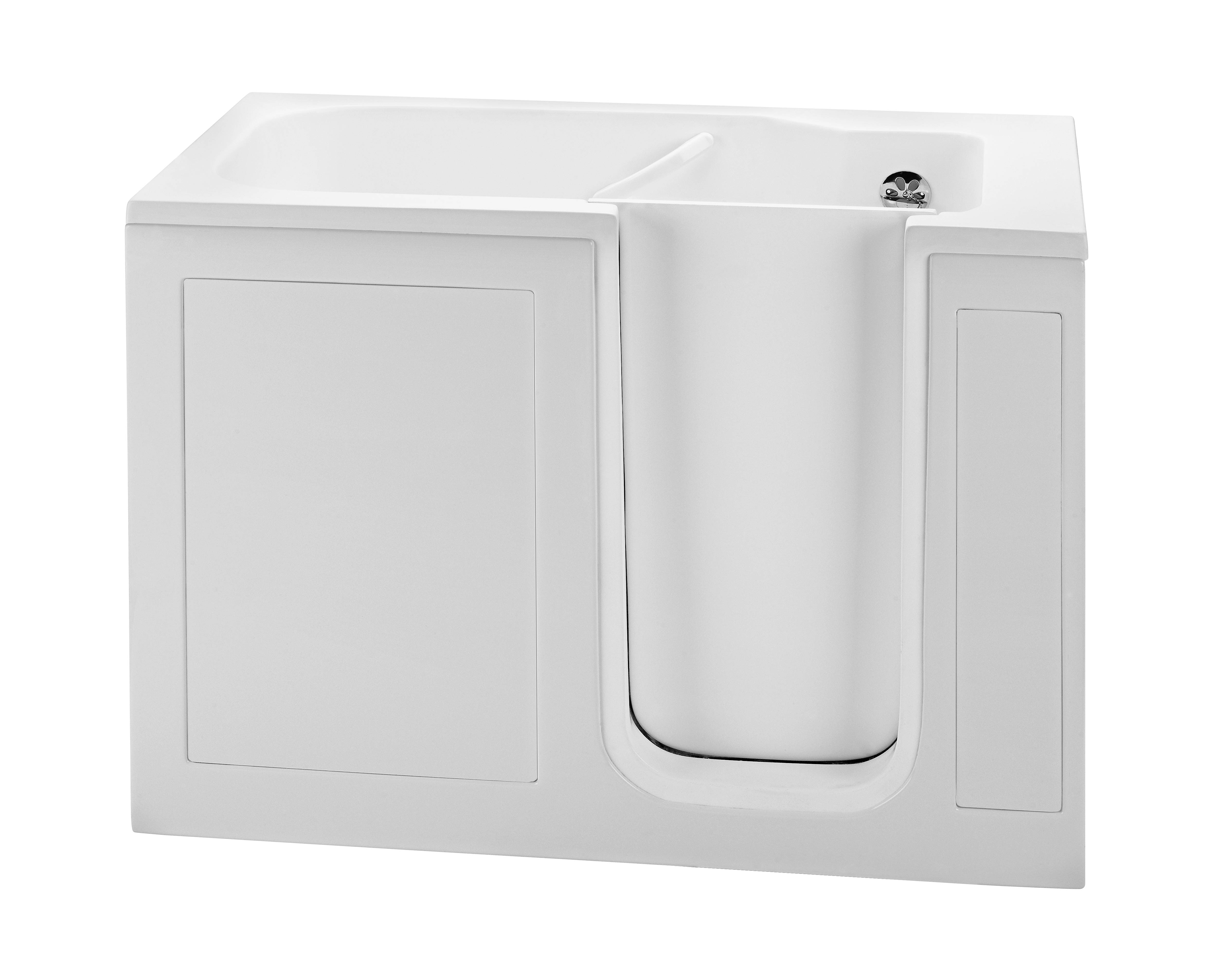 Reliance RWI5030NVW 51.5 Inch Walk in Whirlpool Bath-No Valves-Biscuit
