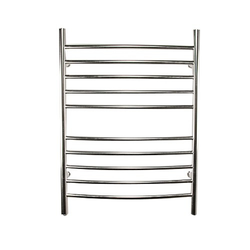 Amba RWP-CB Radiant Curved Plug-In Wall Mounted Electric Towel Warmer In Brushed Stainless Steel