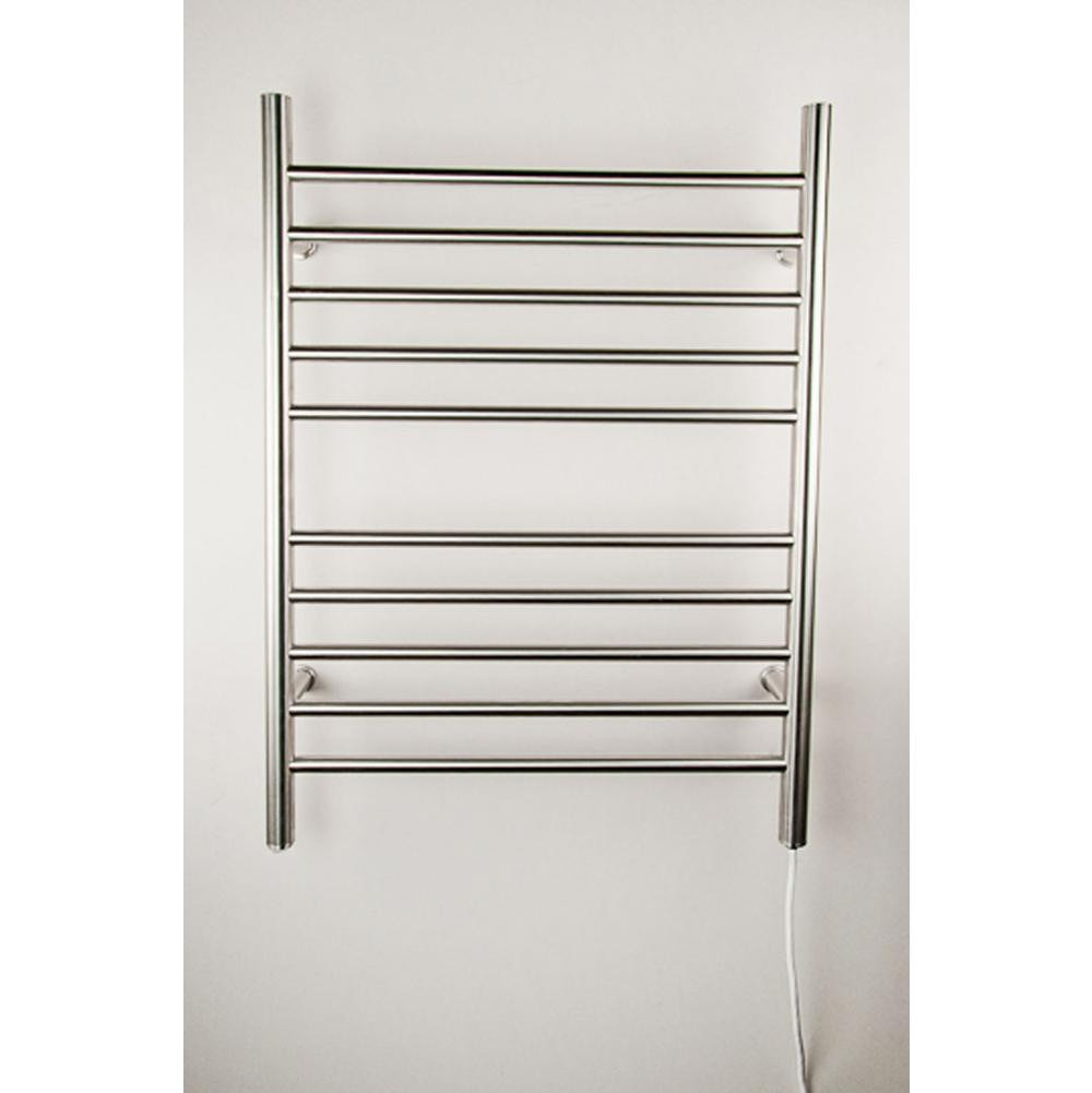 Amba RWP-SB Radiant Straight Plug-In Stainless Steel Bathroom Towel Warmer In Brushed Stainless Steel