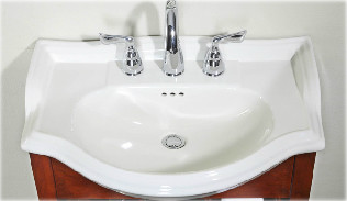 Empire Industries S22 Savoy 22'' Ceramic Rounded Bathroom Sink