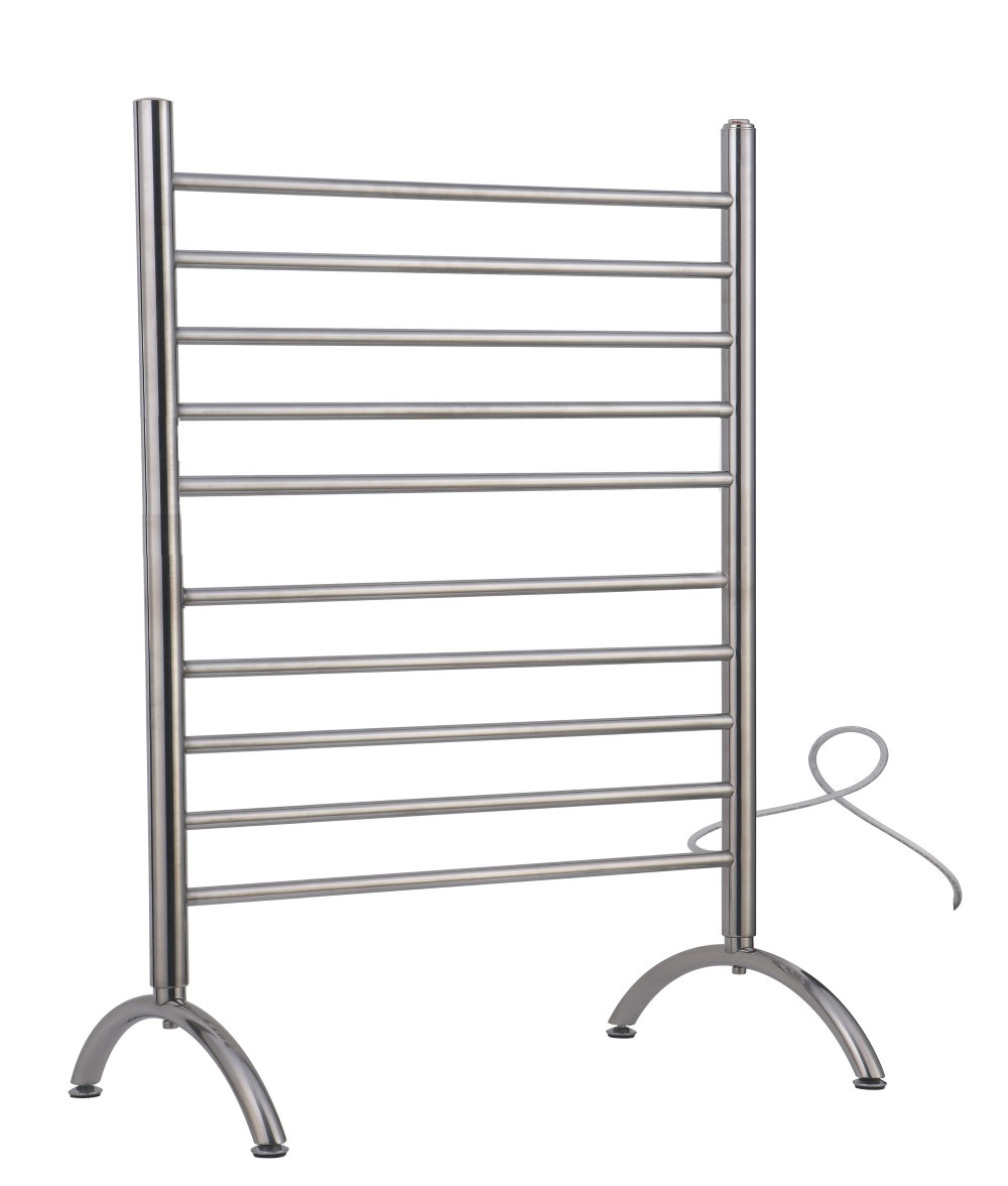 Amba SAFSP-33 Solo Free Standing Plug-In Electric Polished Stainless Steel Towel Warmer