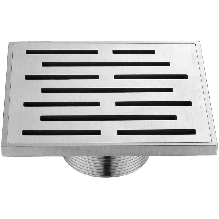 "Dawn® SAN050504 Amazon River Series Square Shower Drain 5""L In Polished Satin"