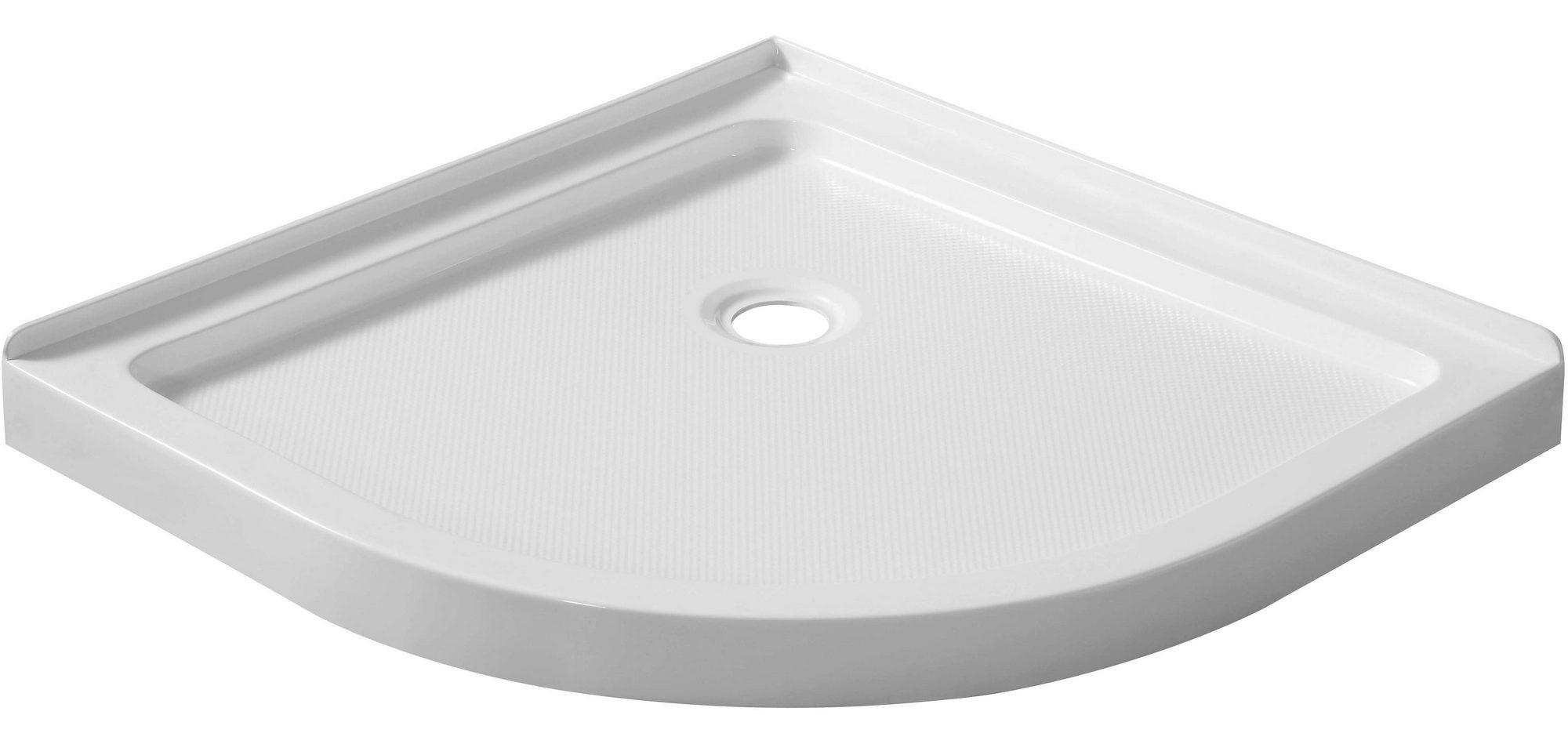 "ANZZI SB-AZ005WN Pillar Series 36x36"" Double Threshold Shower Base in White"