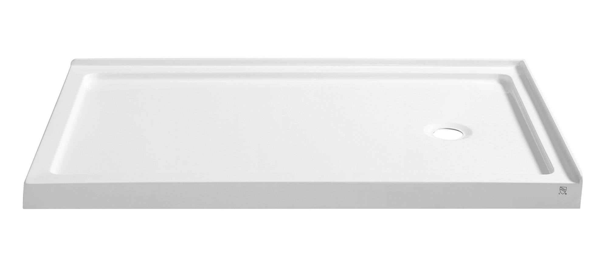 Anzzi SB-AZ008WR Nautilus Series 60 in. x 36 in. Shower Base in White