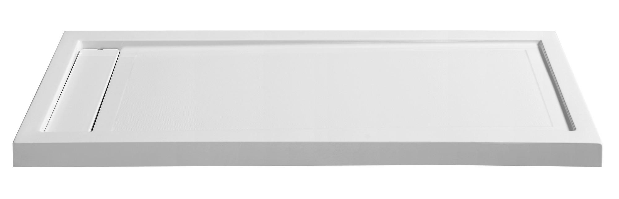 Anzzi SB-AZ013WL Meadow Series 60 in. x 32 in. Shower Base in White