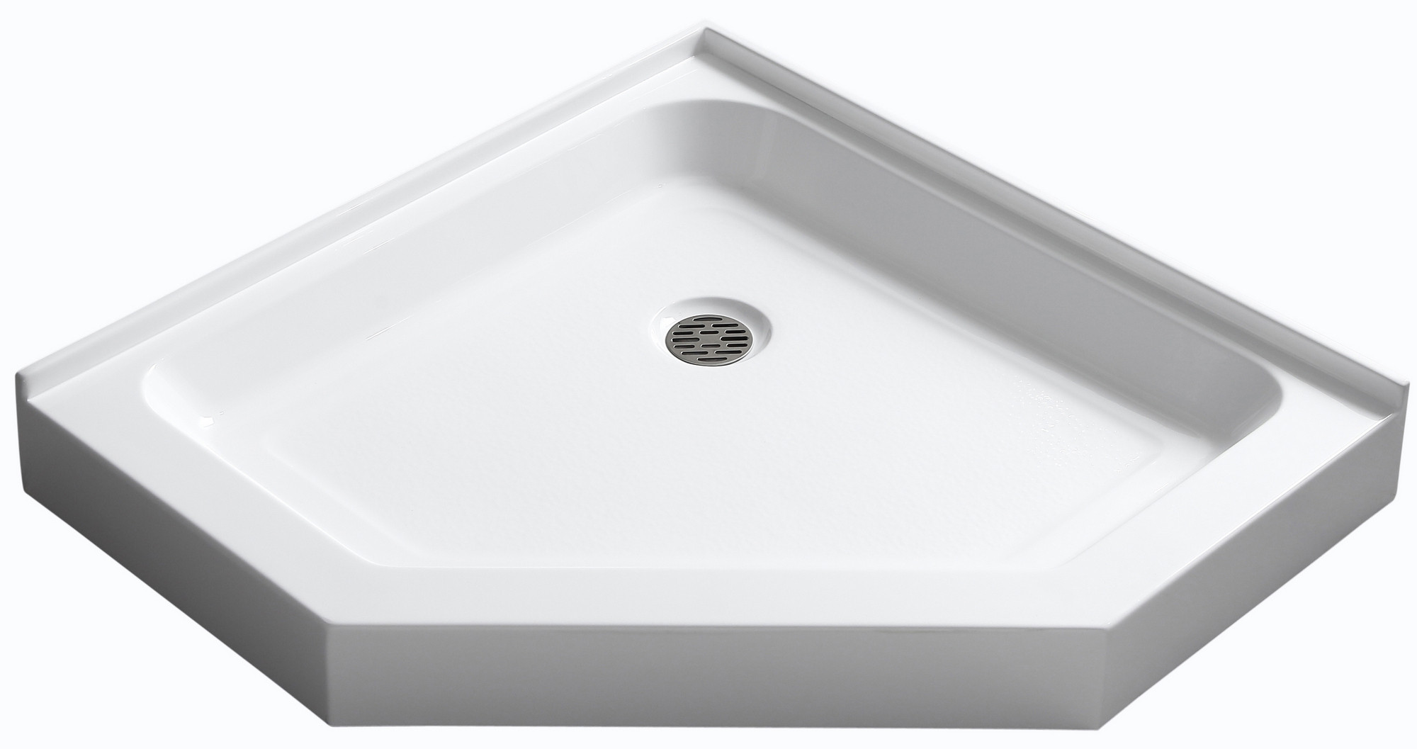 "Anzzi SB-AZ01NO Randi 36x36"" White Neo-Angle Double Threshold Shower Base"
