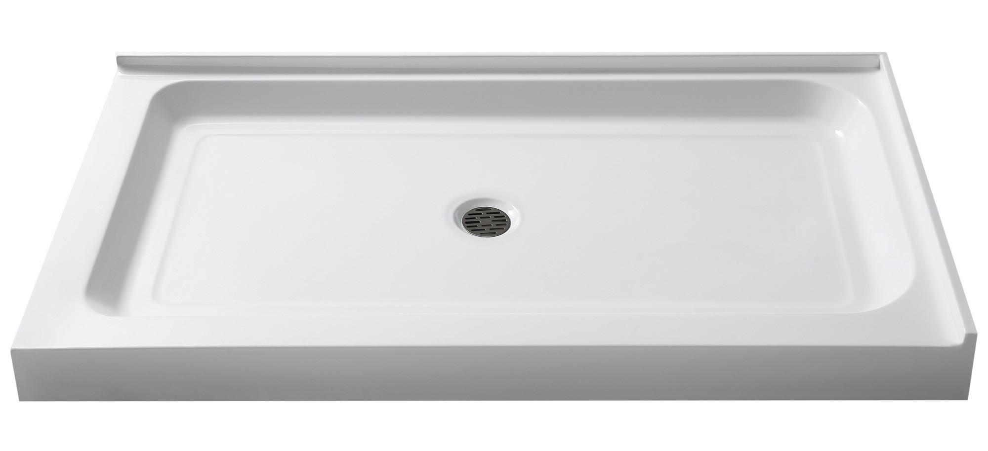 Anzzi SB-AZ022L Port 36 x 48 in. Double Threshold Shower Base in White