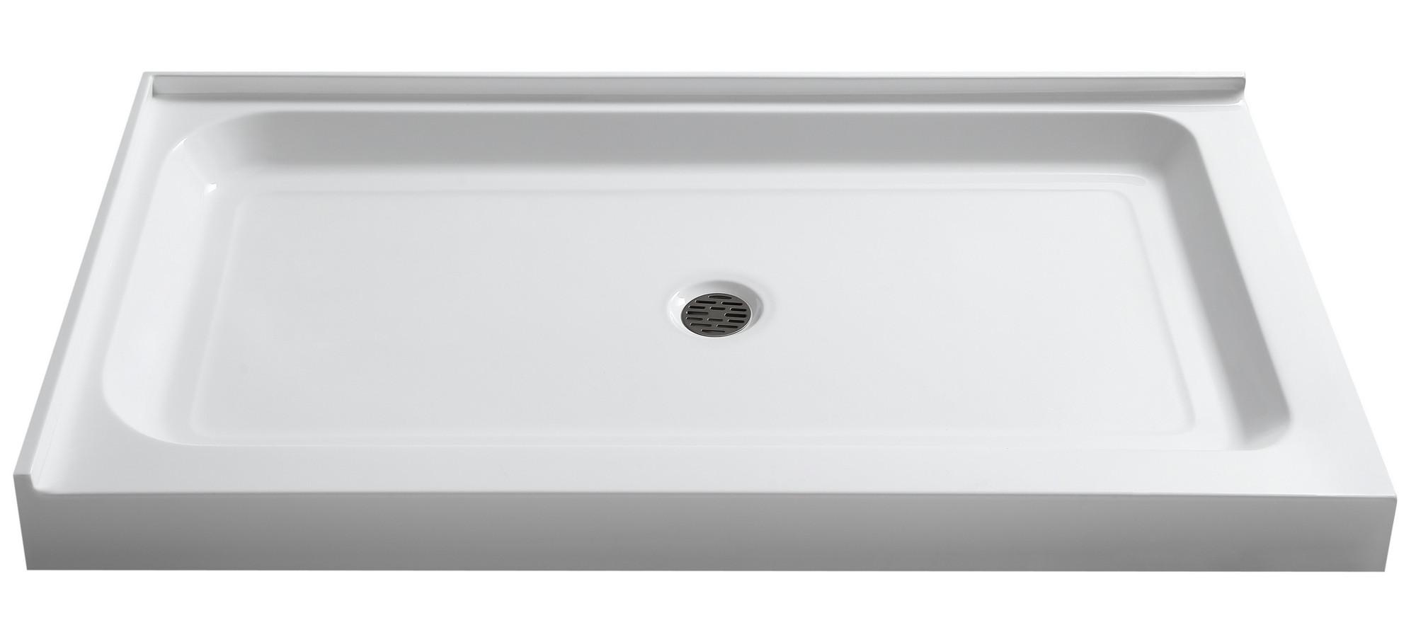 Anzzi SB-AZ022R Vail 36 x 48 in. Double Threshold Shower Base in White
