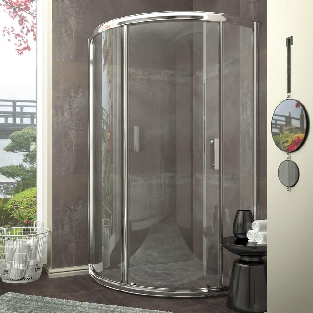 ANZZI SD-AZ01-01CH Baron Framed Sliding Shower Door In Polished Chrome