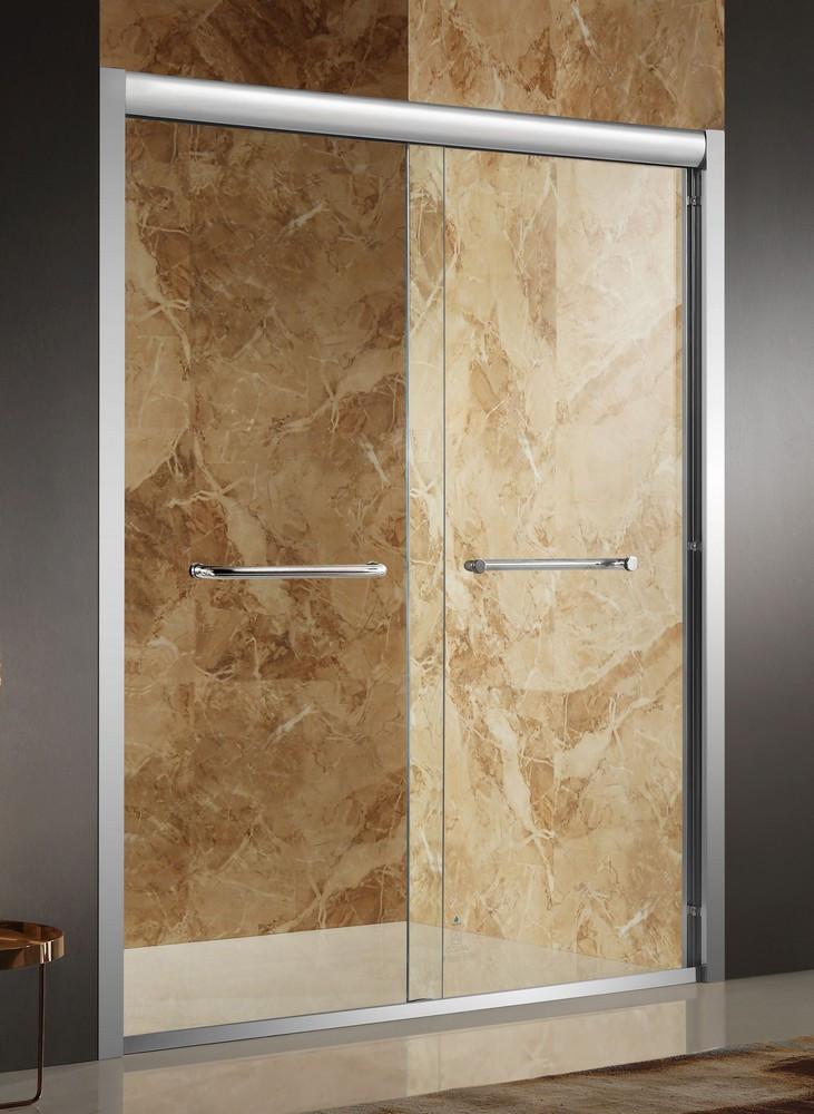 ANZZI SD-AZ01BBH-R Pharaoh Clear Glass Framed Shower Door In Brushed Nickel