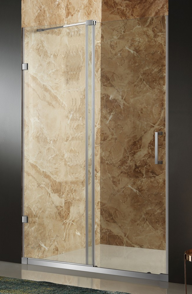 ANZZI SD-AZ03BBH-L Brushed Nickel Sliding Shower Door With Left Side Doors