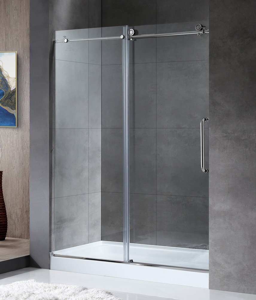 ANZZI SD-AZ13-02CH Madam Series Sliding Shower Door In Polished Chrome