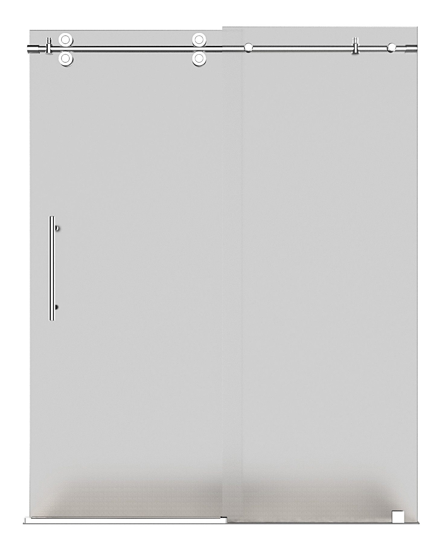 Aston Global SDR978F-CH-60-10 High Frameless Sliding Shower Door With Frosted Glass In Chrome