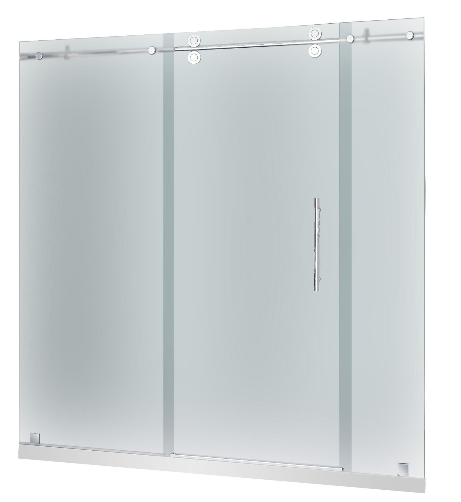 Aston Global SDR978F-TR-CH-72-10-R Shower Door With Shower Right Base In Chrome