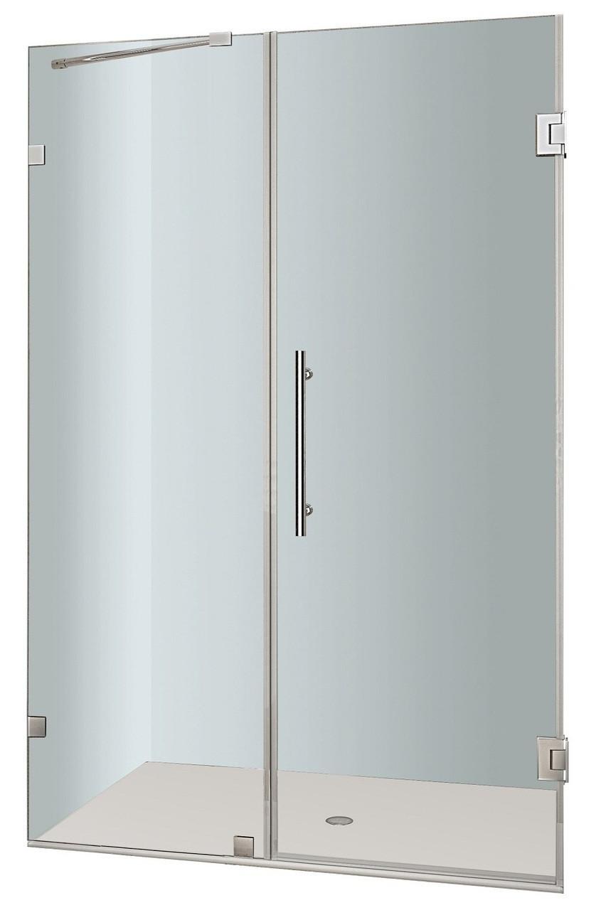 Aston Global SDR985-..-33-10 Nautis Completely Frameless Hinged Shower Door
