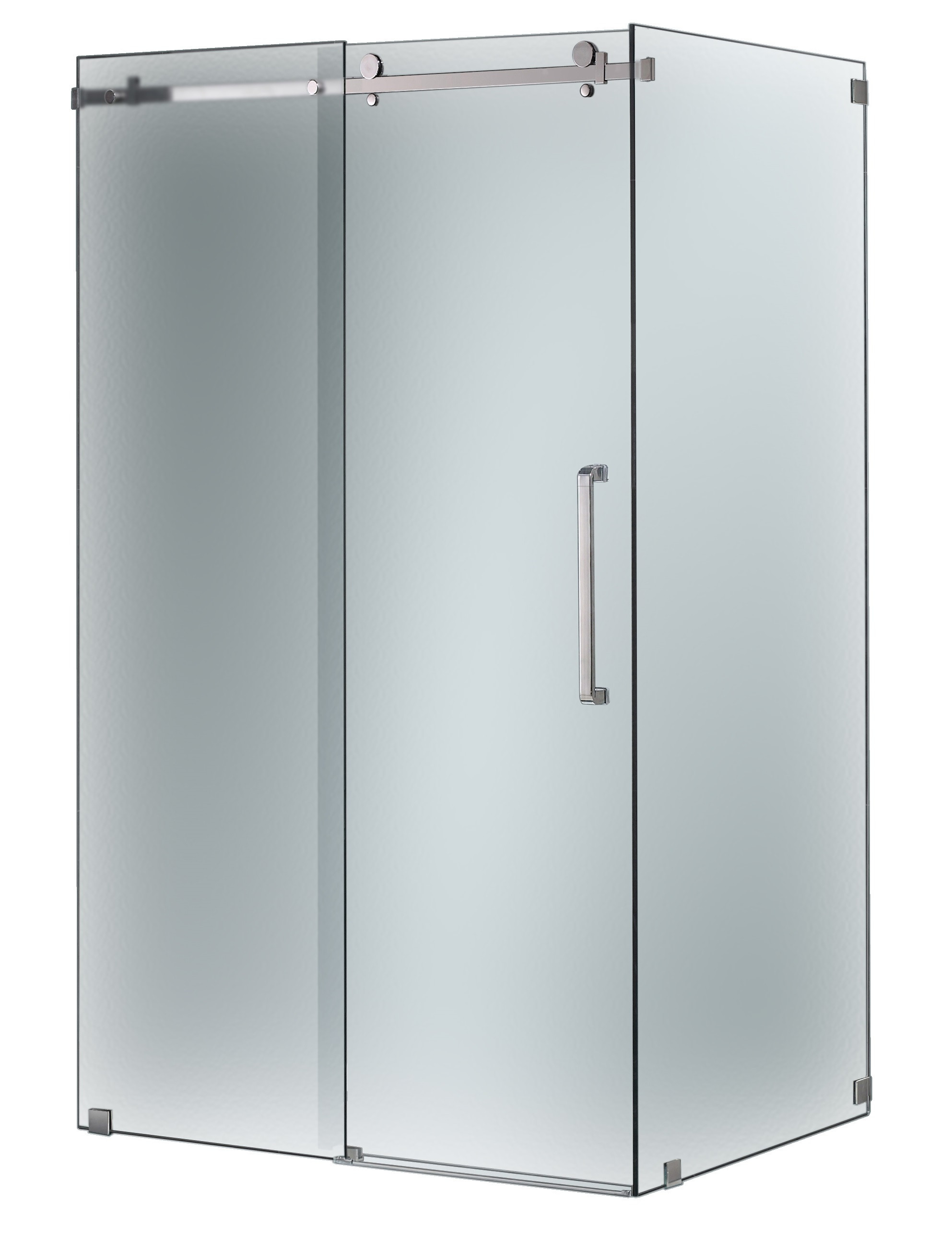 Aston Global SEN976F-CH-48-10 Completely Frameless Sliding Shower Door Enclosure In Chrome