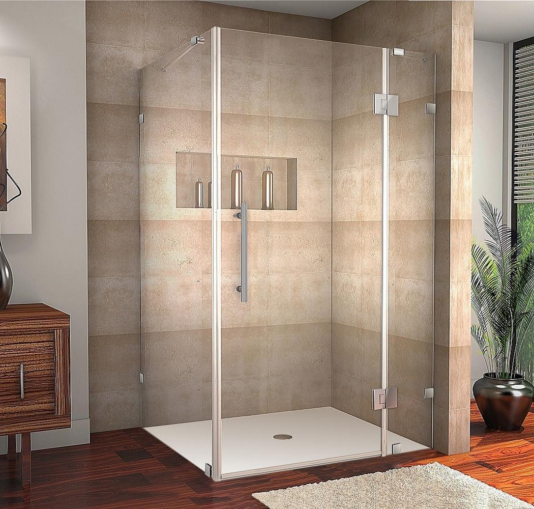Aston Global SEN987-SS-4232-10 Avalux Completely Frameless Shower Enclosure in Stainless Steel