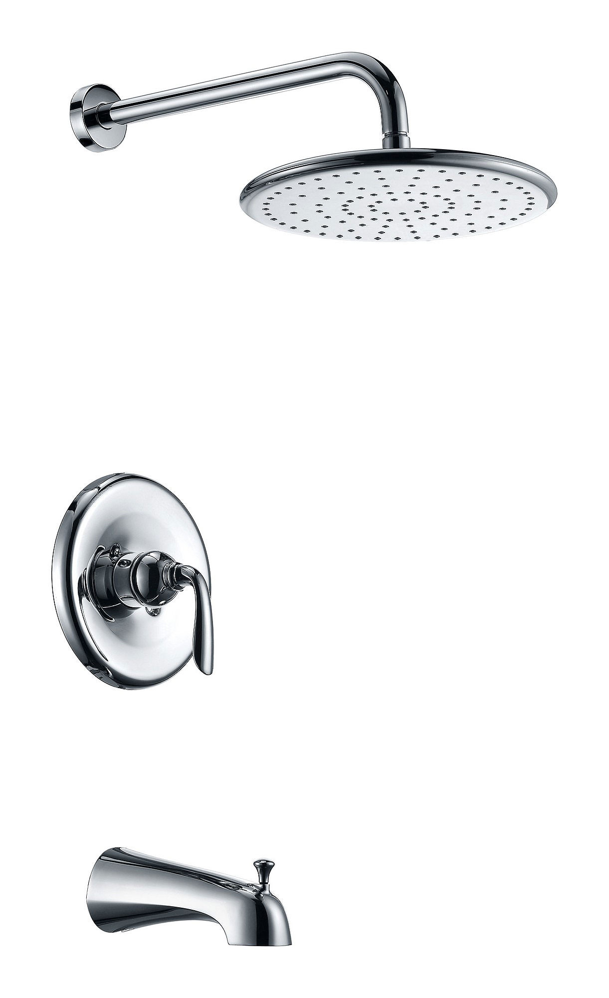 ANZZI SH-AZ032 Meno Single Handle Tub and Shower Faucet In Polished Chrome