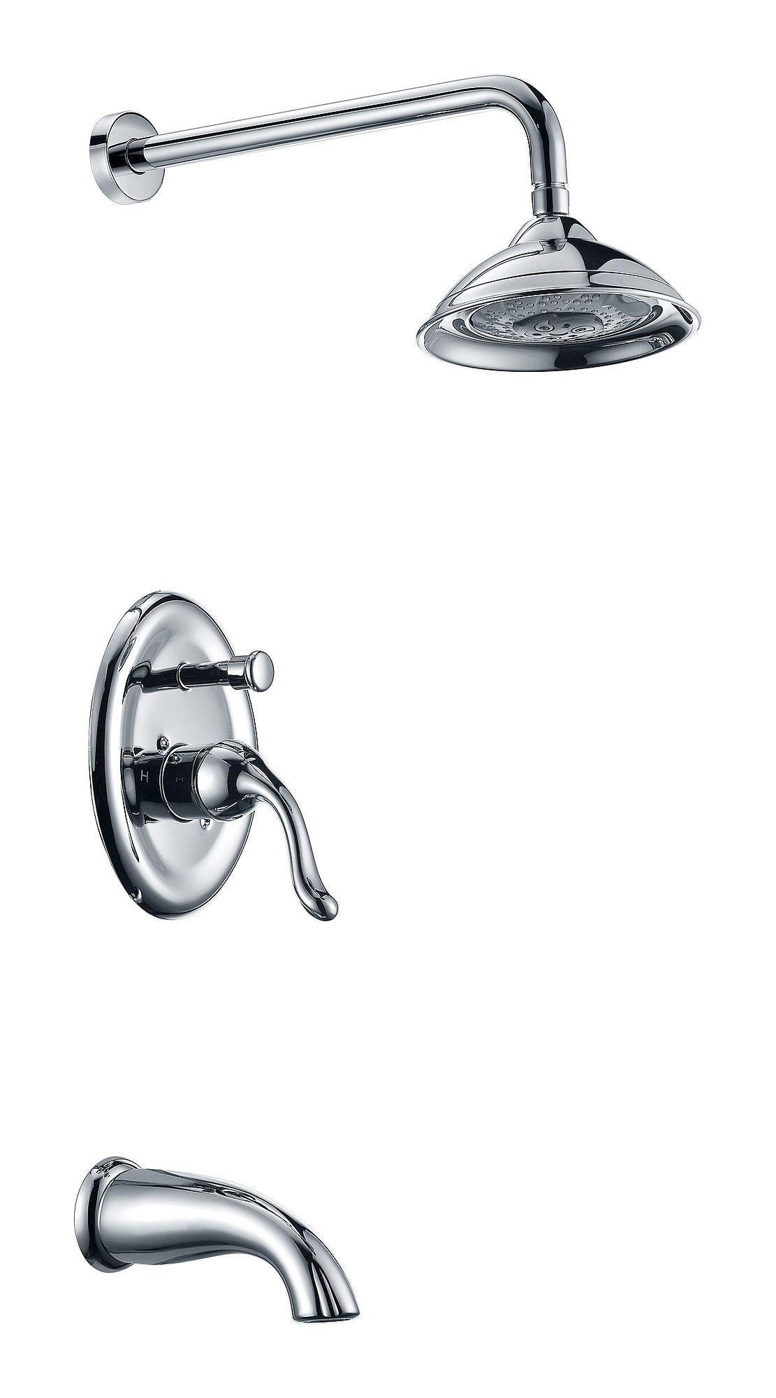 ANZZI SH-AZ036 Assai Series Tub and Shower Faucet System In Polished Chrome