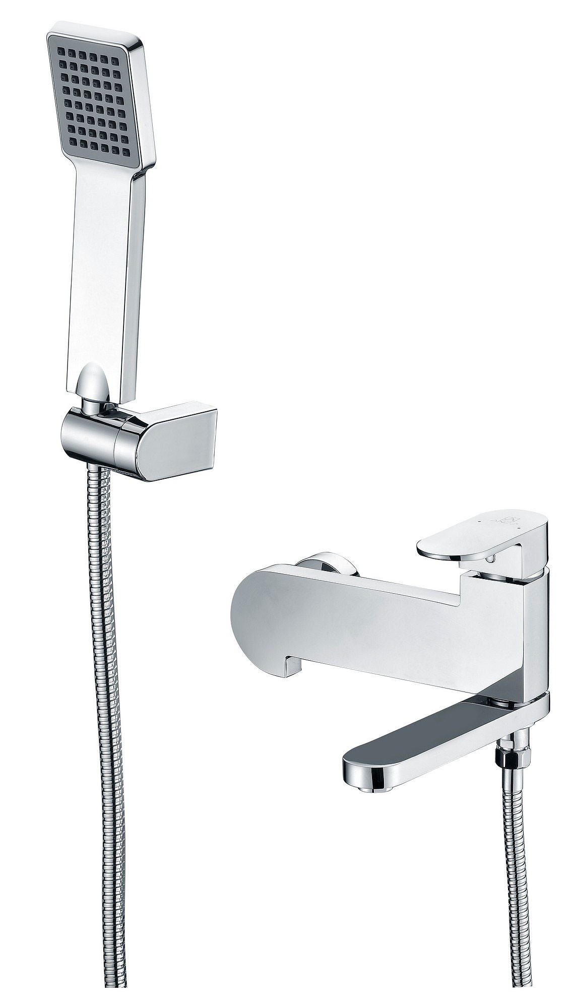 ANZZI SH-AZ042 Echo Wall Mount Tub and Shower Faucet In Polished Chrome