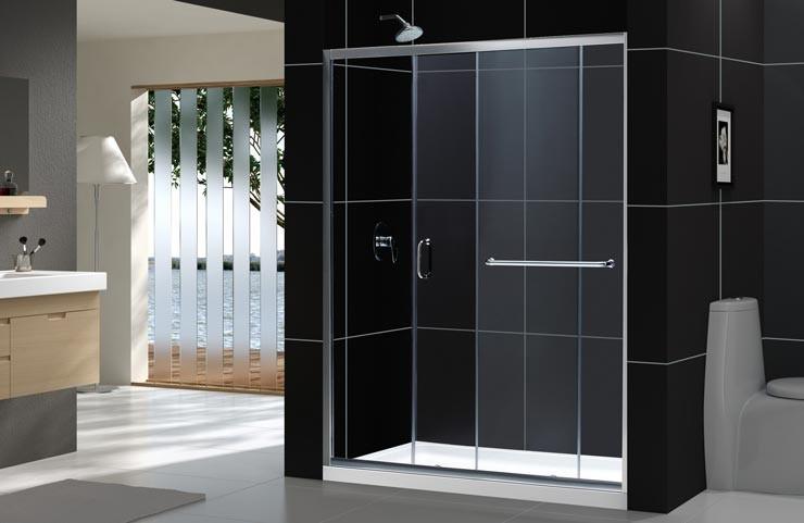 """Dreamline SHDR-0960720-CL Clear 56 to 60"""" Frameless Sliding Shower Door"""