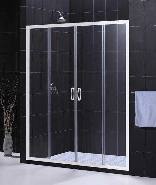 """DreamLine SHDR-1160726 Vision 56"""" - 60"""" Sliding Tempered  Glass Shower Door"""