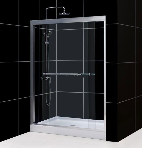 "DreamLine SHDR-1260728 56-60""W x 72""H DUET Bypass Sliding Shower Door"
