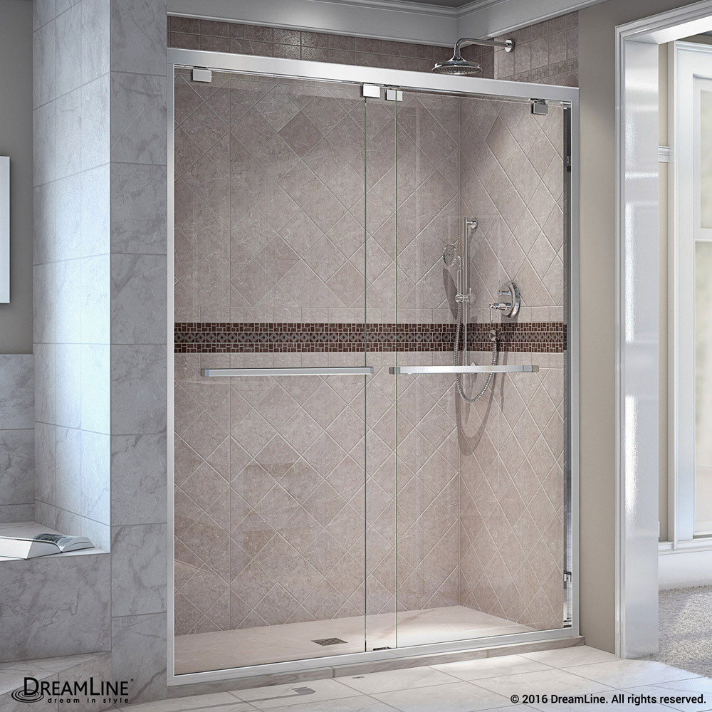 DreamLine SHDR-1648760-01 Encore 44 - 48 in. W x 76 in. H Bypass Sliding Shower Door in Chrome