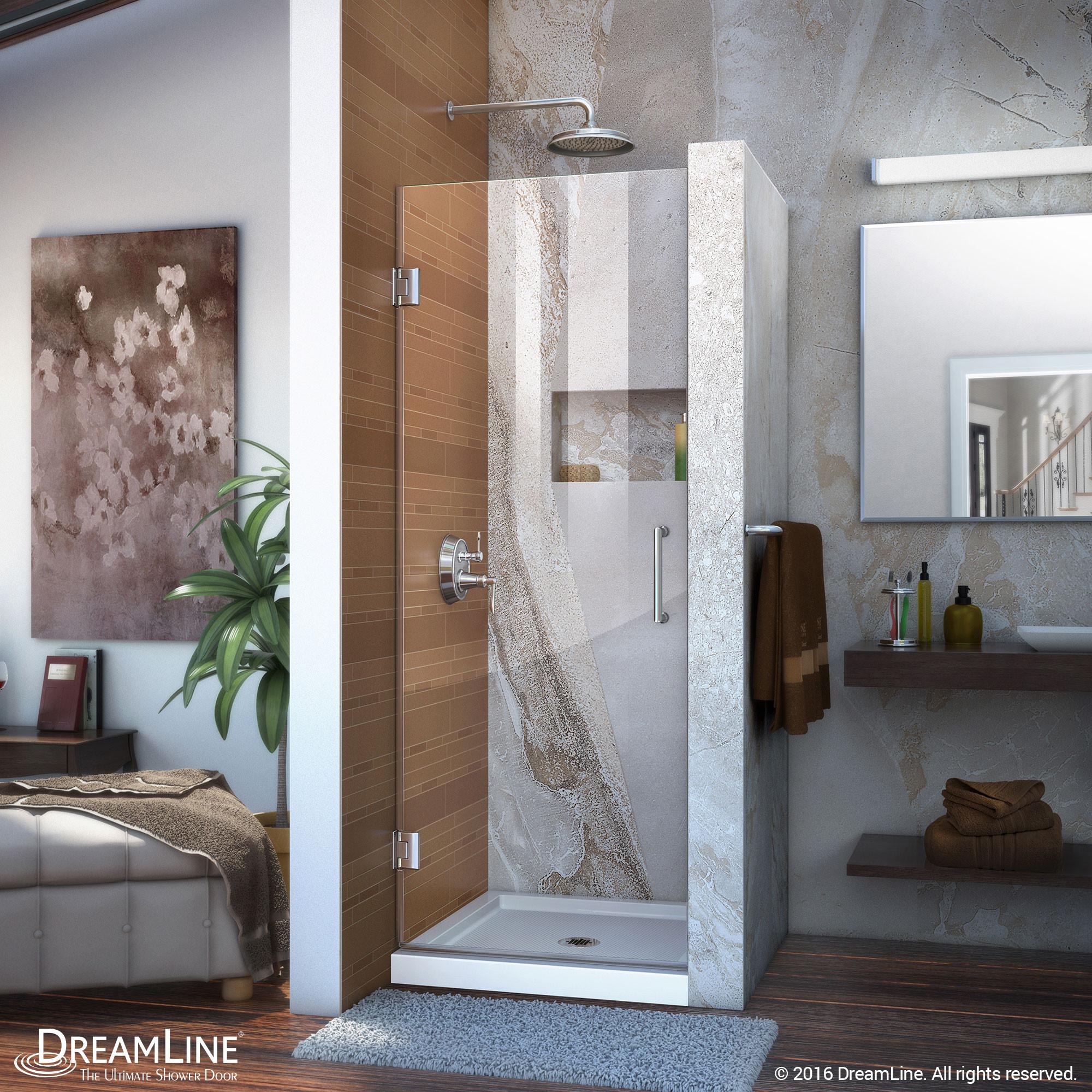 """DreamLine SHDR-20277210F Chrome 27 x 72"""" Frameless Clear Glass Shower Door"""