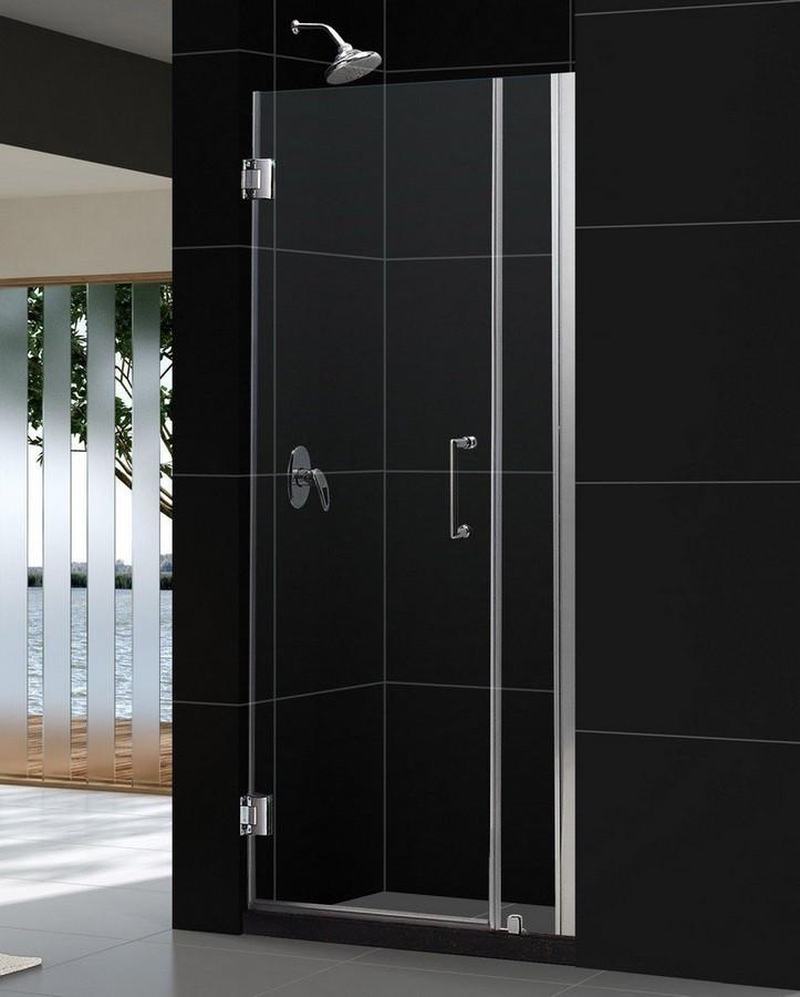 """Dreamline SHDR-20297210 Unidoor 29 to 30"""" Frameless Hinged Glass Shower Door"""