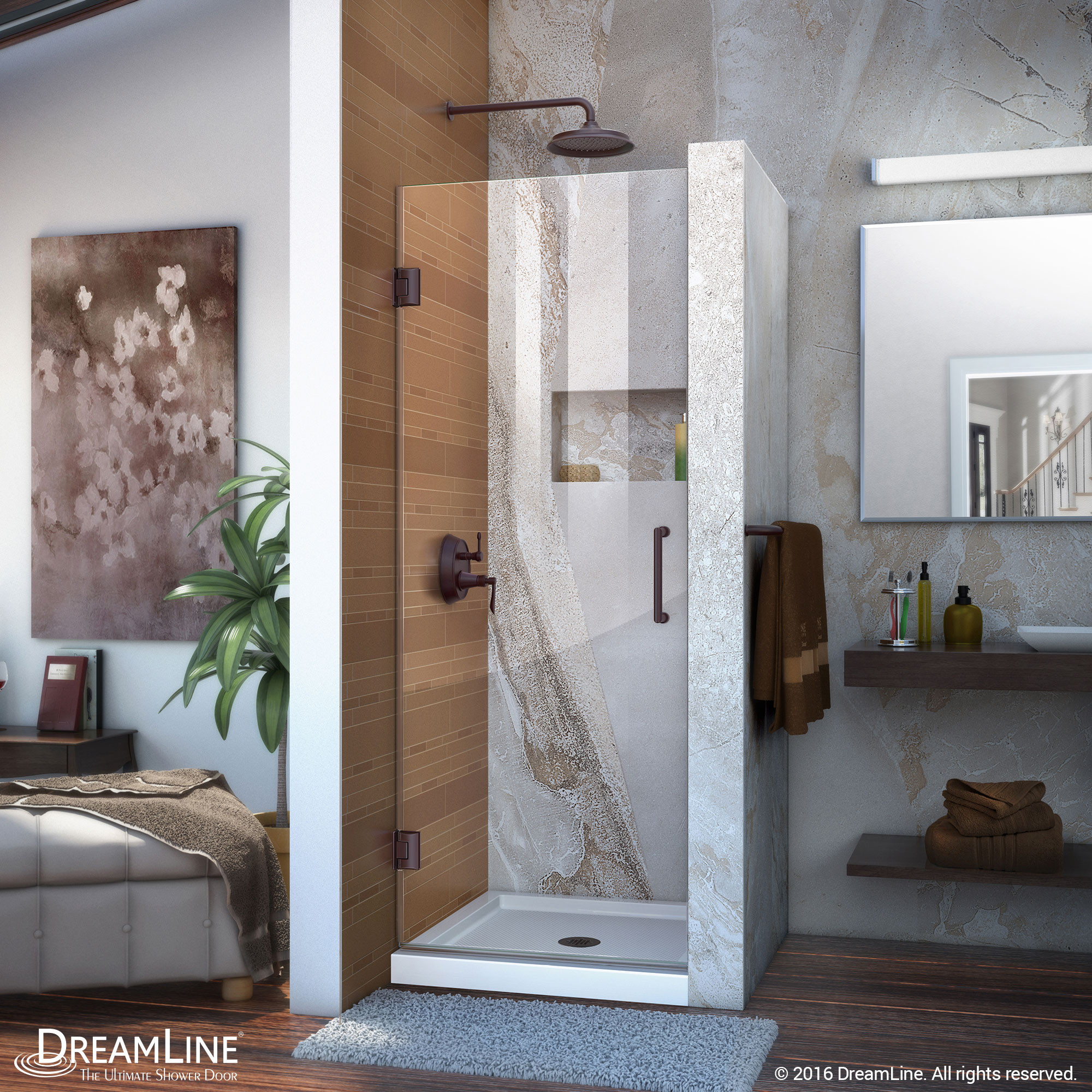 Dreamline SHDR-20307210F-06 Oil Rubbed Bronze 30 x 72 Frameless Shower Door
