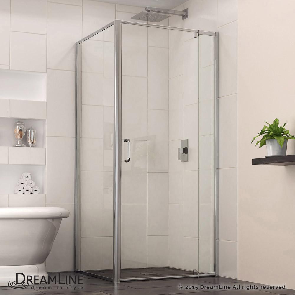 DreamLine SHDR-2234340-RT-01 Flex Pivot Shower Door In Chrome Finish Hardware