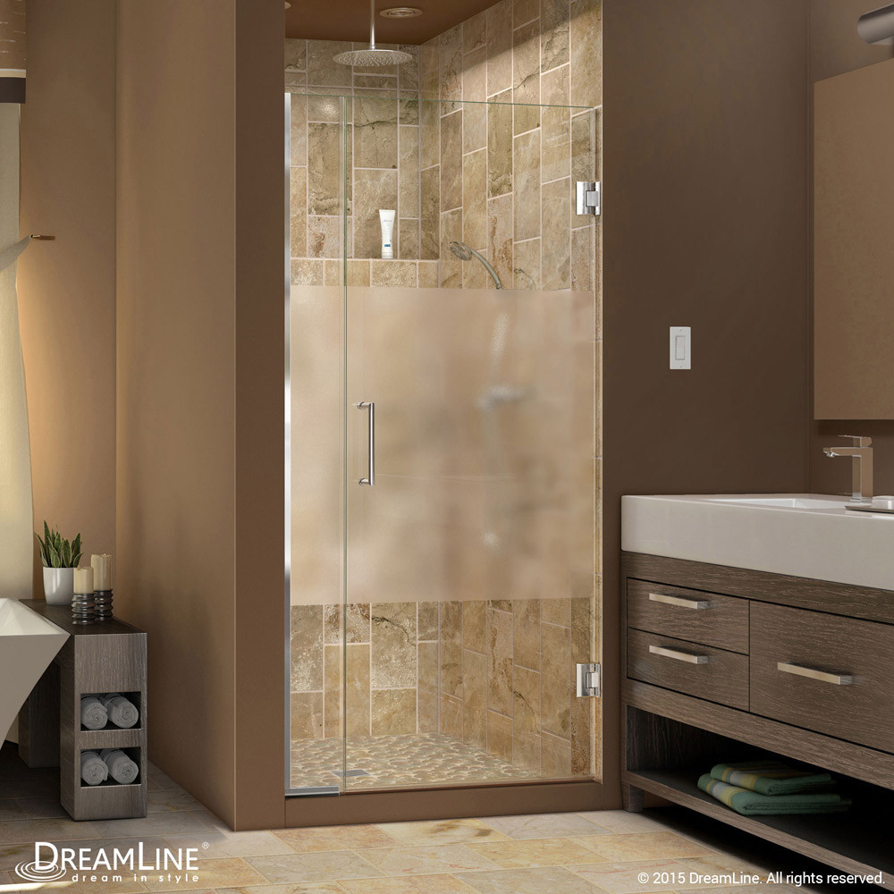 DreamLine SHDR-242907210-HFR-01 Unidoor Plus Min 29 in. Hinged Shower Door In Chrome Hardware