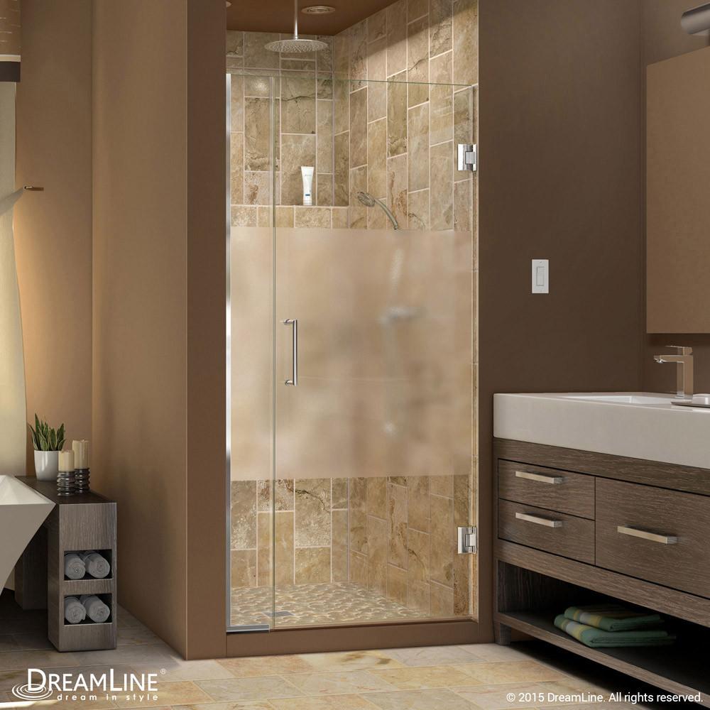 DreamLine SHDR-243507210-HFR-01 Unidoor Plus Hinged Shower Door In Chrome Hardware