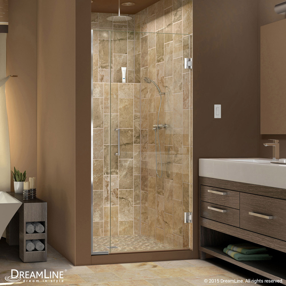 DreamLine SHDR-243557210-01 Unidoor Plus Min 35-1/2 in. Hinged Shower Door In Chrome Hardware