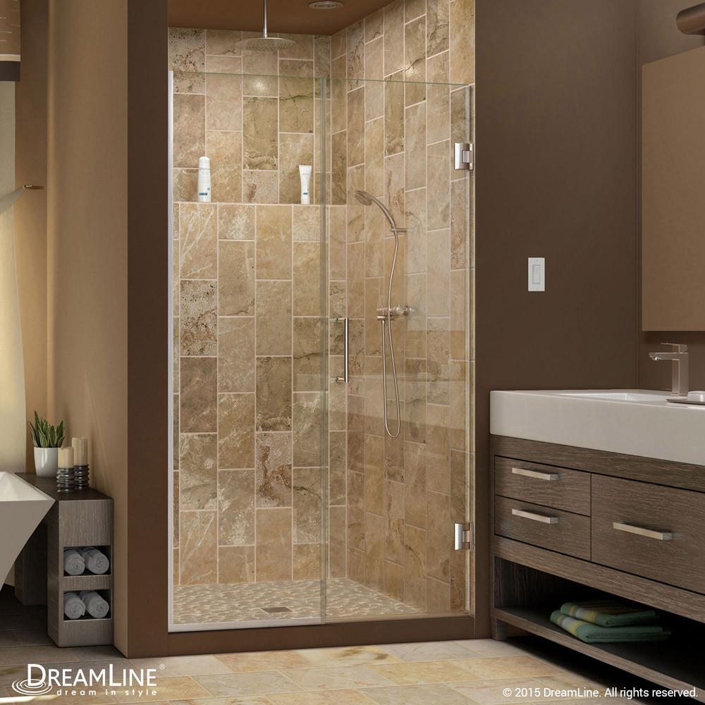 DreamLine SHDR-243707210-04 Unidoor Plus Hinged Shower Door In Brushed Nickel Hardware