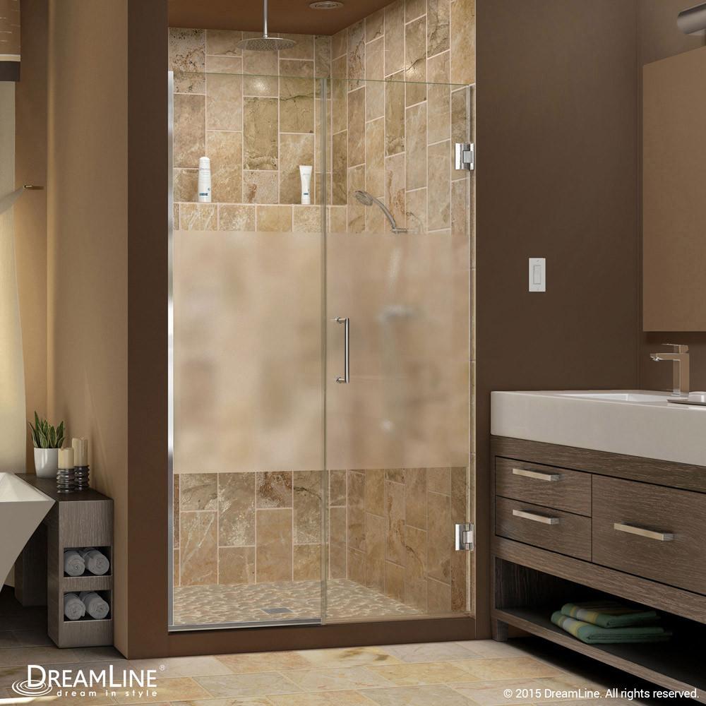 DreamLine SHDR-245107210-HFR-01 Unidoor Plus Min 51 in. Hinged Shower Door In Chrome Hardware
