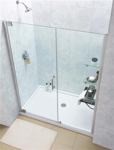"""Dreamline SHDR-4142720 Elegance 42 1/2 to 44 1/2"""" Frameless Pivot Shower Door"""