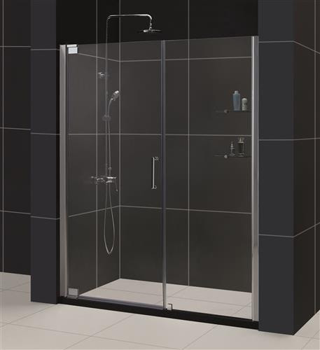 "Dreamline SHDR-4149720 Elegance 49 1/4 to 51 1/4"" Frameless Pivot Shower Door"