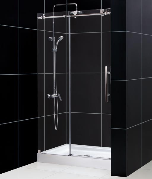 "DreamLine SHDR-61487610 48x76"" Enigma-X Reversible Clear Glass Shower Door"