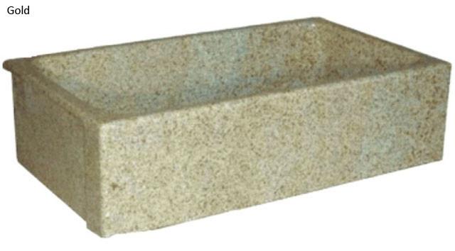 Quiescence SI-FSP-3319 Single Smooth Stone Farm Sink