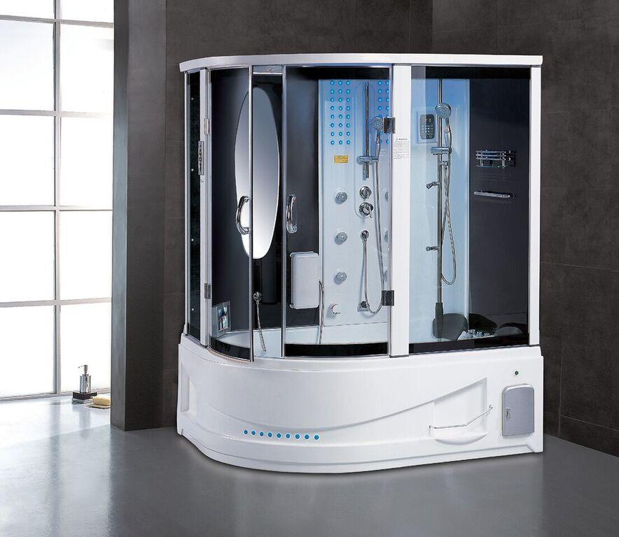 Maya Bath Siena Steam Shower In White - Main View