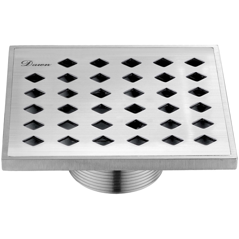"Dawn® SMI050504 Mississippi River Series Square Shower Drain 5""L In Polished Satin"