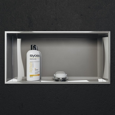 Cantrio SN-2412 Stainless Steel Shower Niche - 24 Inch by 12 Inch