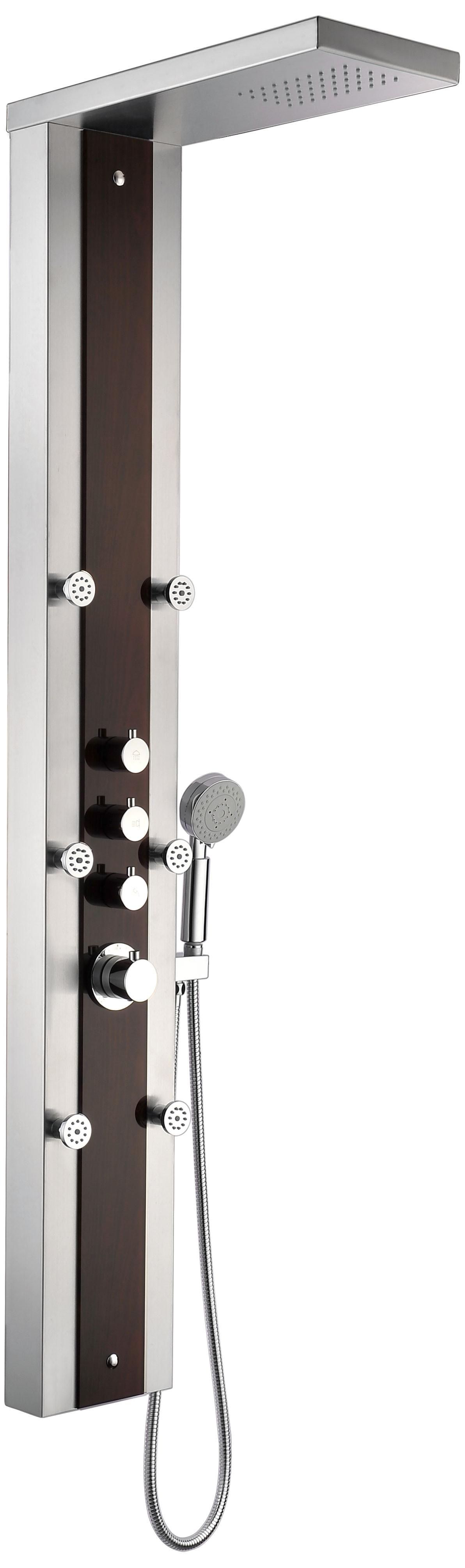 ANZZI SP-AZ013 Kiki Shower Panel With Rain Shower In Rich Mahogany Styled