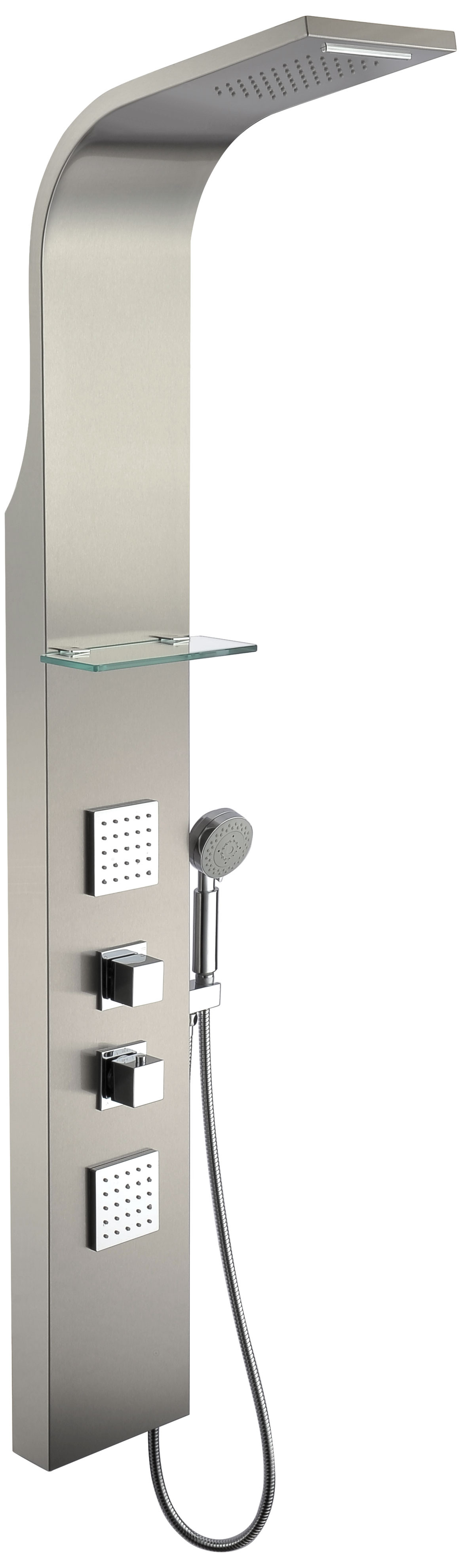 ANZZI SP-AZ023 Niagara Thermostatic Shower Panel In Brushed Stainless Steel