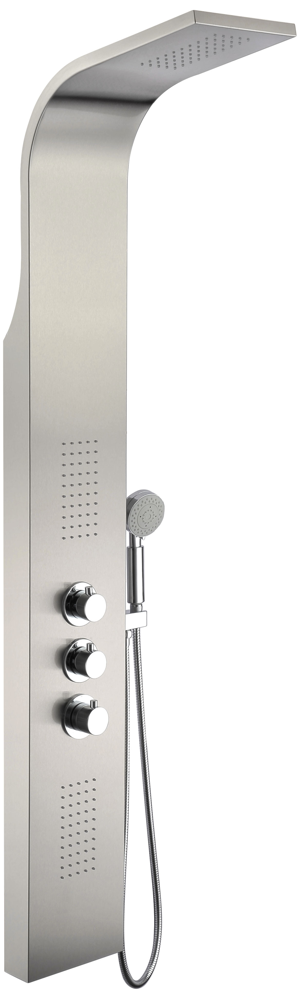 ANZZI SP-AZ024 Arc Wall Mount Shower Panel In Brushed Stainless Steel